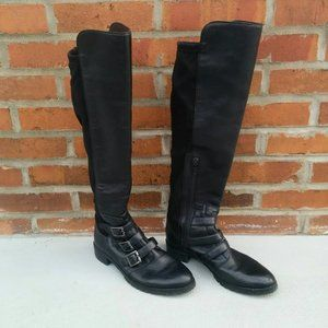 Vince Camuto black knee-high boots size 7 1/2